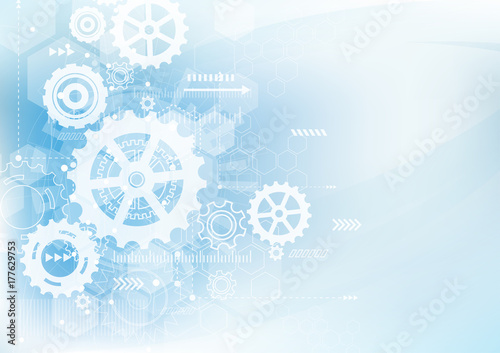 Obraz Abstract Technology Background. Communication and engineering concept. Vector illustration - fototapety do salonu