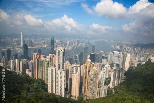 Zdjęcie XXL Hongkong. Widok od szczytu