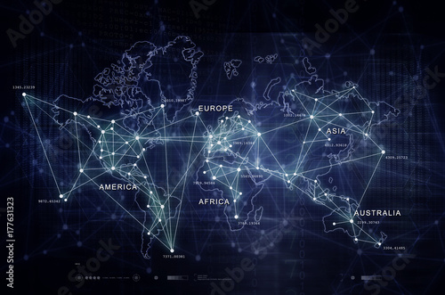 Internet of things digital world map buy this stock illustration internet of things digital world map gumiabroncs Images