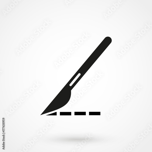 Leinwand Poster scalpel icon illustration isolated vector sign symbol