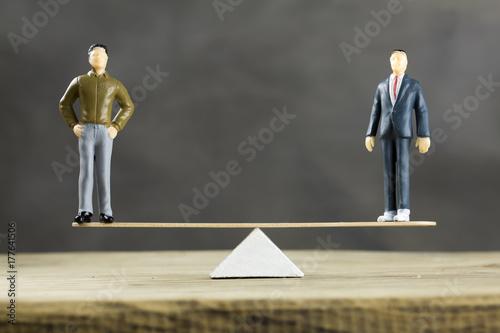 Obraz na plátně Businessmen Balance Concept