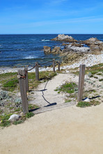 Stairs And Walkway To Asilomar...