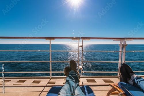 Fotografie, Obraz  Cruise Ship Deckchairs Relax