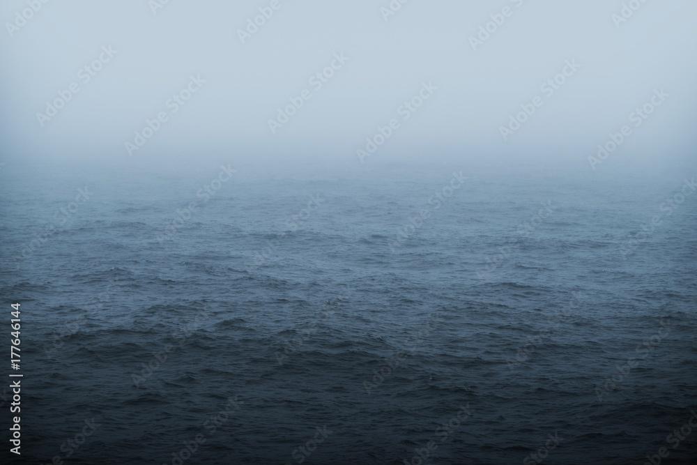 Fototapety, obrazy: Foggy Sea Weather Theme
