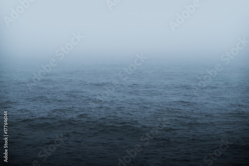 Fotobehang Zee / Oceaan Foggy Sea Weather Theme