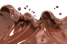 Splash Chocolate 3d Rendering
