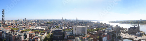 Photo sur Toile Antwerp Antwerpen Belgien Skyline Panorama