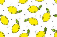 Lemons Seamless Pattern. Vect...