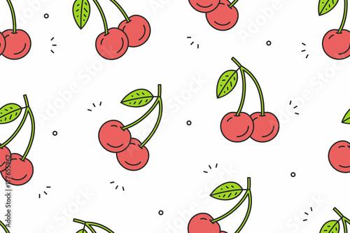 Wiśniowy wzór. Ilustracji wektorowych