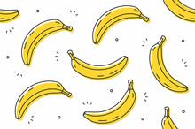 Bananas Seamless Pattern. Vect...