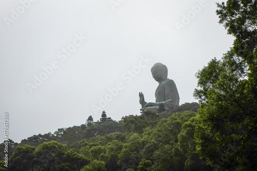 Tian Tan Buddha in Hong Kong Poster