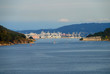 The entrance of the harbor of Ferrol, Spain