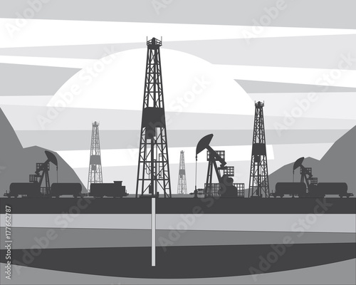 Production of oil from a well drilled in the ground