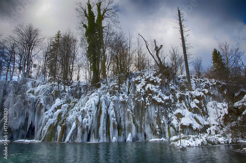 Plitvice Lakes Winter Landscape Buy This Stock Photo And