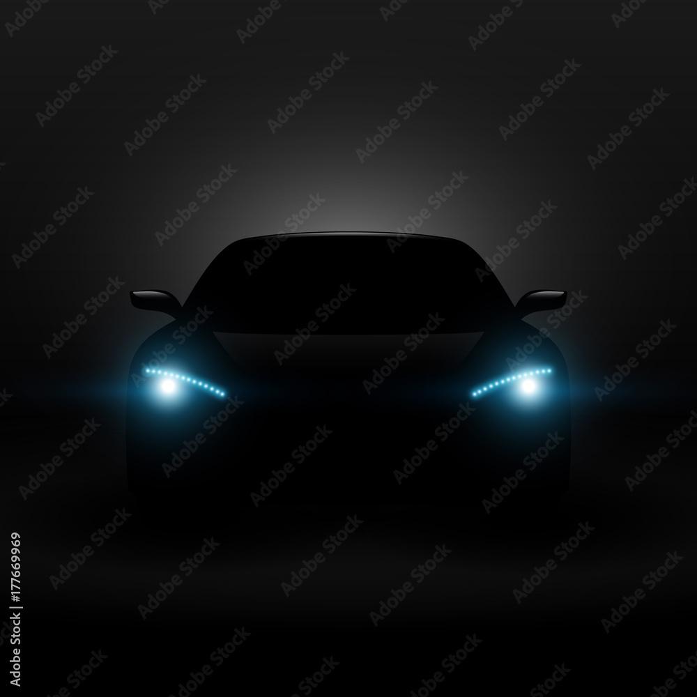 Fototapeta samochód przód wektor - obraz na płótnie