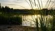 sunset at finnish lake
