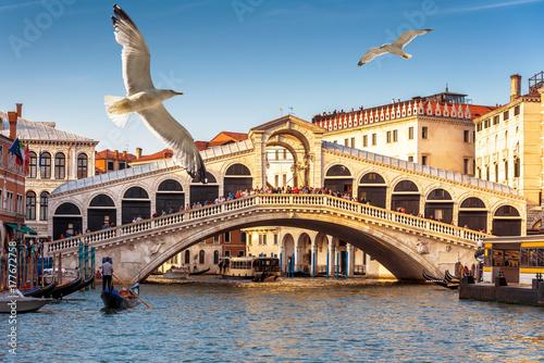 Poster Venice Rialto Bridge over the Grand Canal in Venice
