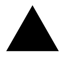Triangle Up Arrow Or Pyramid Flat Vector Icon For Apps And Websites
