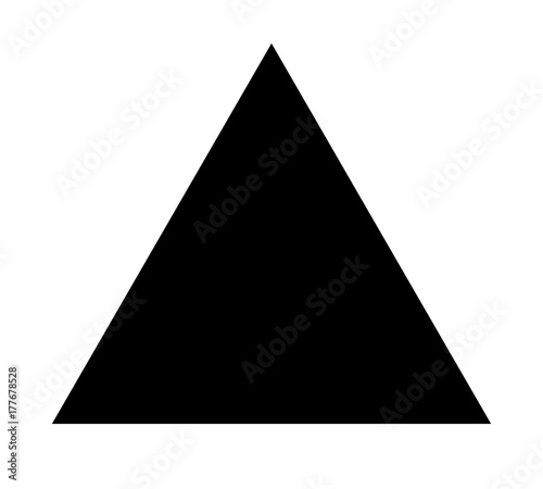 Triangle up arrow or pyramid flat vector icon for apps and websites Canvas Print