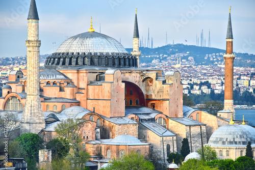 Fotografiet Hagia Sophia museum (Ayasofya Muzesi) in Istanbul, Turkey