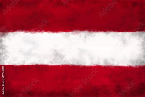 Plakat flaga Austrii