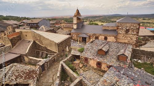 Obraz na płótnie El Muyo czarna wioska w Segovia prowinci, Hiszpania