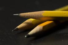 Macro Shot Of Sharpened Pencils