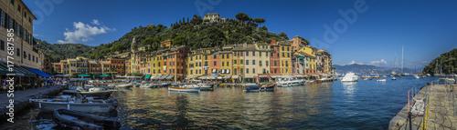 Canvas Prints Panoramic view of Portofino, LIgurian, Italy