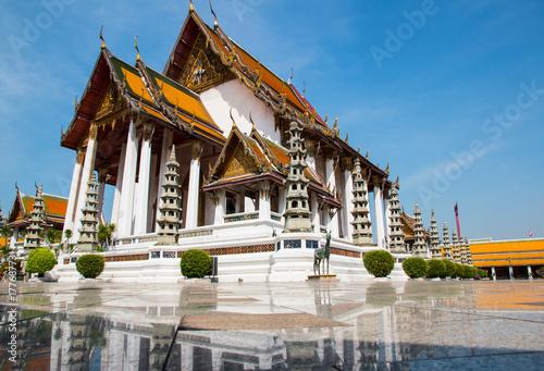 Plakat Wat Suthat, (Suthattepwararam Temple), Bangkok, Tajlandia