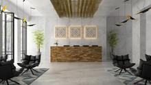 Interior Of A Hotel Spa Recept...