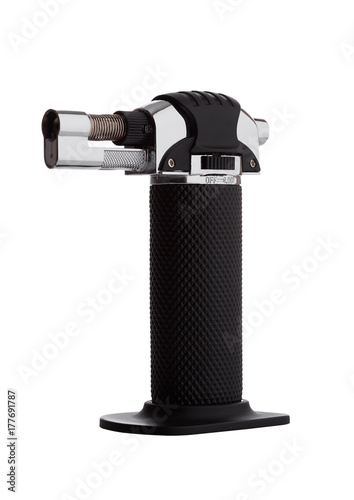 Kitchen mini blow torch with black handle