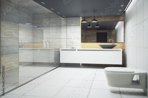 Plakat Jasne wnętrze łazienki