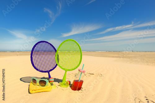 Plakat Gra w tenisa plażowego