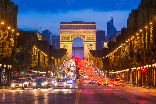 Photo  Champs Elysees and Arc de Triomphe, Paris