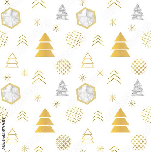 boze-narodzenie-minimalistyczny-wzor-w-modnym-skandynawskim-geometrycznym-stylu-z-faktura-marmuru-sylwetka-choinki-platkami-sniegu-folia-metalowa-i-brokatem-szablon-zaproszenia-na-wakacje