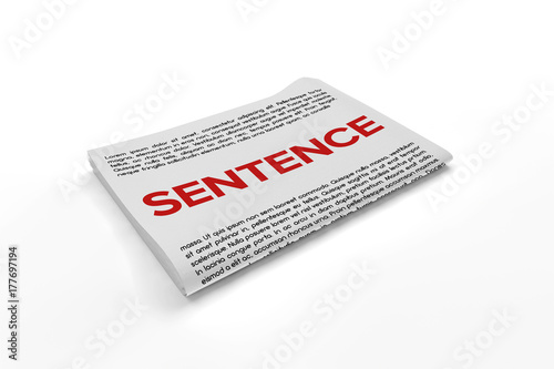 Poster Sentence on Newspaper background