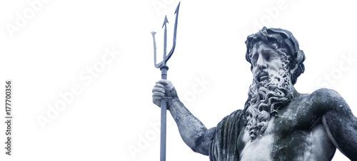 Plakat Starożytny posąg boga mórz i oceanów Neptuna (Posejdon)