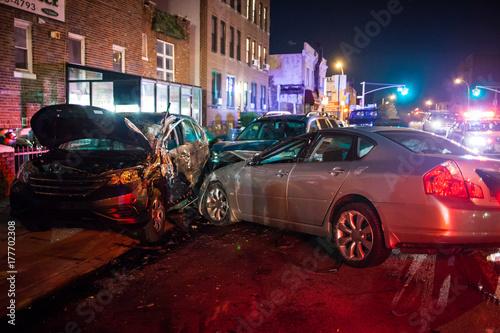 Door stickers New York Car crash