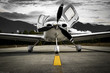canvas print picture - Airplane Low Wing