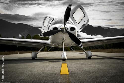 Fotografie, Obraz  Airplane Low Wing