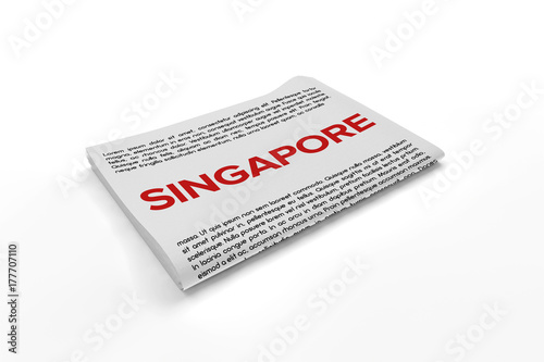 Photo  Singapore on Newspaper background
