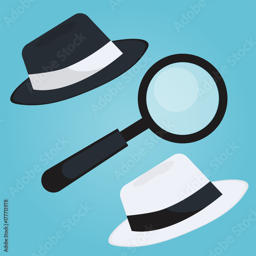 Black hat seo banner  Magnifier, and other search engine