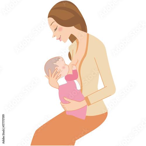 Photo  母乳を飲む赤ちゃん