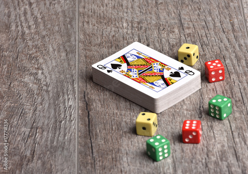 Fotografia  Playing cards on the table.