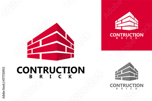 Fototapeta Brick Contruction Logo Template Design obraz