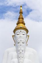 Beautiful Five Buddha On The Mountain,Wat Phasornkaew Temple, Khao Kho In Phetchabun Province, Thailand