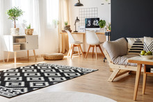 Cozy Work Area With Carpet