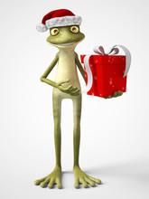 3D Rendering Of Cartoon Frog W...