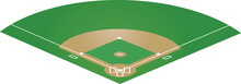 Baseball Field. Vector Illustr...