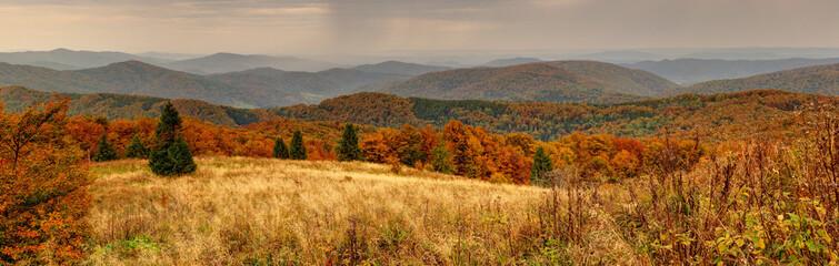 Panorama Bieszczady.
